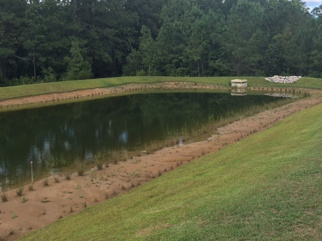 Water Retaining Pond : Retention pond compliance in shallotte nc